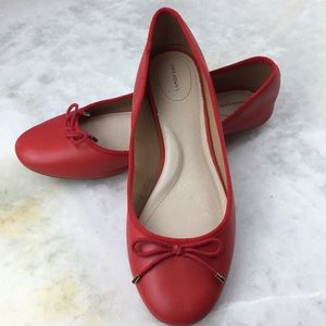 Lands End Red Flats with Bow
